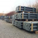 300 x Recyclingpfähle »Rund« 1,75m 4,5cm Palette