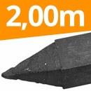 45 x Recycling Pfähle »Vierkant« 2,00m...