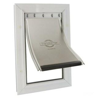 Katzentüre »Plus« Haustierklappe · Aluminium, 348x225mm, weiß