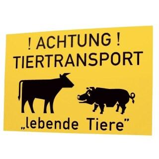 Warnschild »Tiertransport« Hinweisschild · Kunststoff, 50x31cm
