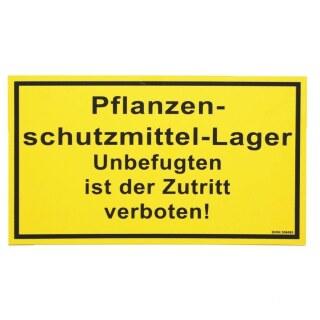 Warnschild »Pflanzenschutzmittel« Kunststoff Schild · 25x15cm