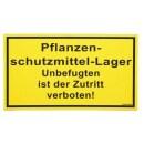 Warnschild »Pflanzenschutzmittel« Kunststoff...