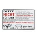 Hinweisschild »Pferdeweide« Kunststoff Schild...