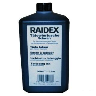 Tätowiertusche »Raidex« dauerhafte Markierung · 1l, schwarz