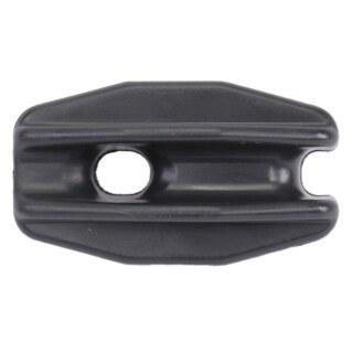 40x Abspann Isolator Eiform schwarz Abspannisolator