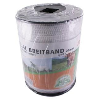 Weidezaunband »Spezial« Breitband · 20mm, 200m, weiß