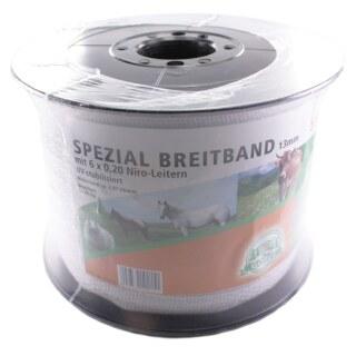 Weidezaunband »Spezial« Breitband · 13mm, 500m, weiß