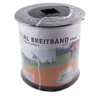Weidezaunband »Spezial« Breitband · 10mm, 250m, weiß