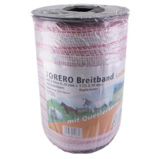 Weidezaunband »Torero« Breitband · 10mm, 200m, weiß-rot