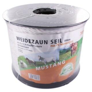 Weidezaunseil »Mustang« Elektroseil · 6mm, 200m
