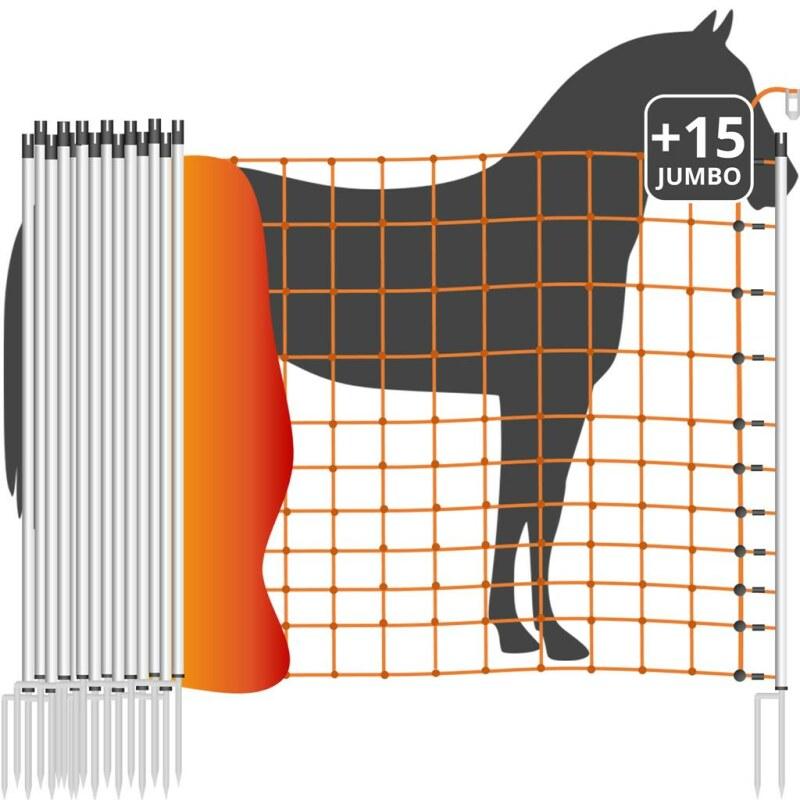 weidenetz euronetz pferdenetz 50m 2 spitzen 145cm g nstig kaufen. Black Bedroom Furniture Sets. Home Design Ideas