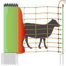 Schafnetz »Euronetz« Elektrozaun · 25m 2 Spitzen, 106cm