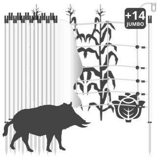 Wildschweinzaun »Euronetz« Wildschweinabwehr · 30m 1 Spitze, 75cm