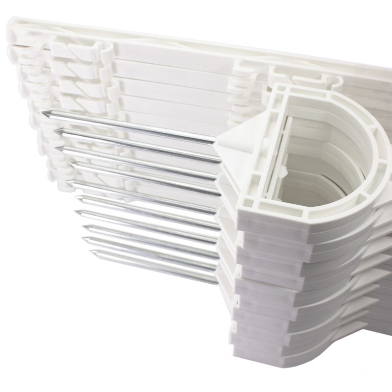20 Stück Weidezaunpfähle weiss 105cm Kunststoffpfähle Kunststoffpfahl Weidezaun