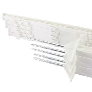 10x Weidezaunpfähle »Dreieckstritt« 150cm Kunststoff Pfähle