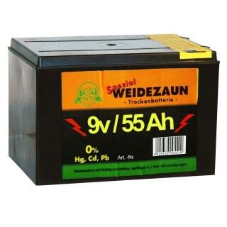 Weidezaunbatterie »Spezial« Batterie Zink / Kohle · 9v 55Ah