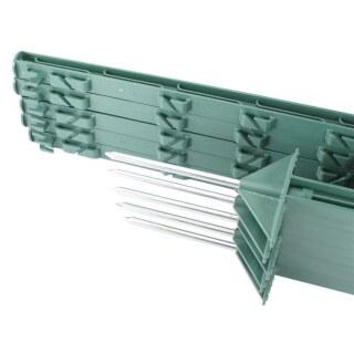 10x Weidezaunpfähle »Dreieckstritt« 75cm Kunststoffpfähle