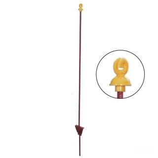 Weidepfähle »Doppelring« 10x, Metallpfähle · rund 8mm, 105cm