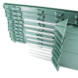 20x Weidezaunpfähle »Dreieckstritt« 150cm Kunststoffpfähle