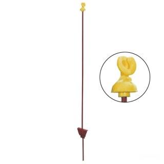 Weidezaunpfähle »Schnecke« 25x, Metallpfähle · oval 5x10mm, 105cm