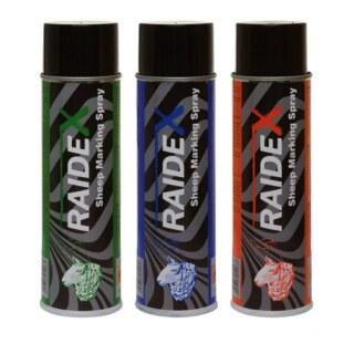 Schafzeichenspray »Raidex« markiert Alter, etc · 500ml, rot